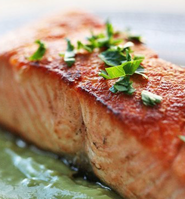 Pan Fried Salmon in Avocado Sauce